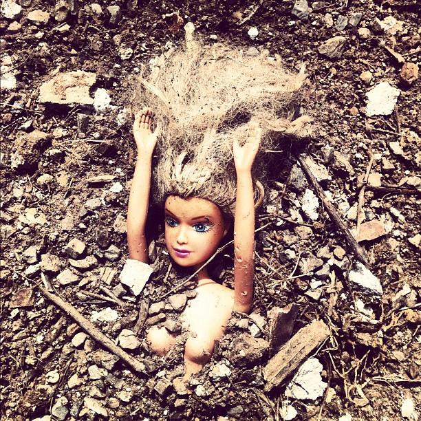 Barbie in ground